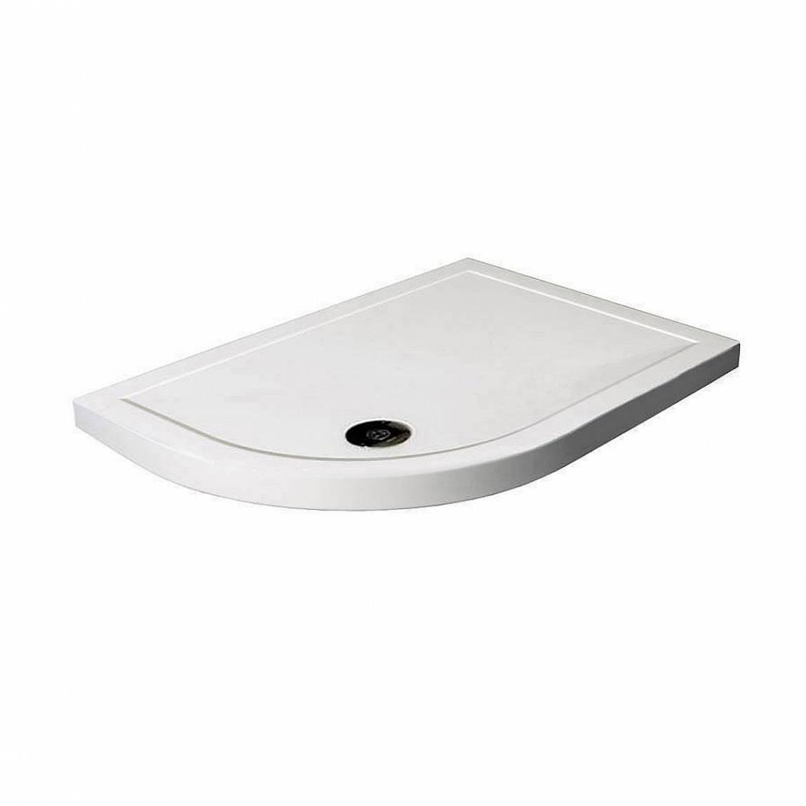 Image of Offset Quadrant Stone Shower Tray 1000 x 800 LH