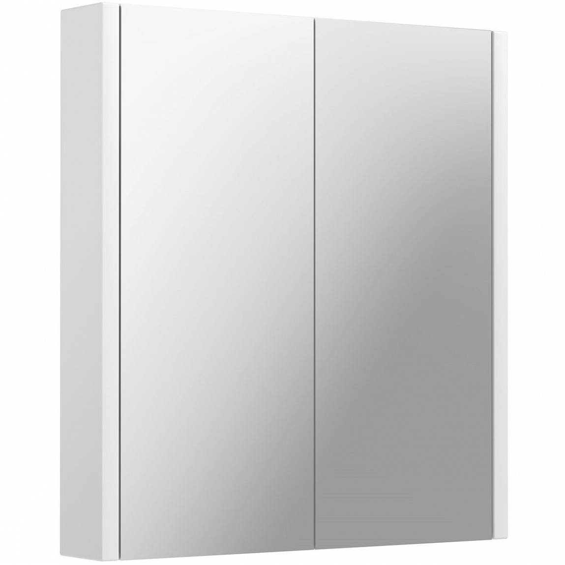 Image of Odessa White 2 Door Mirror Cabinet