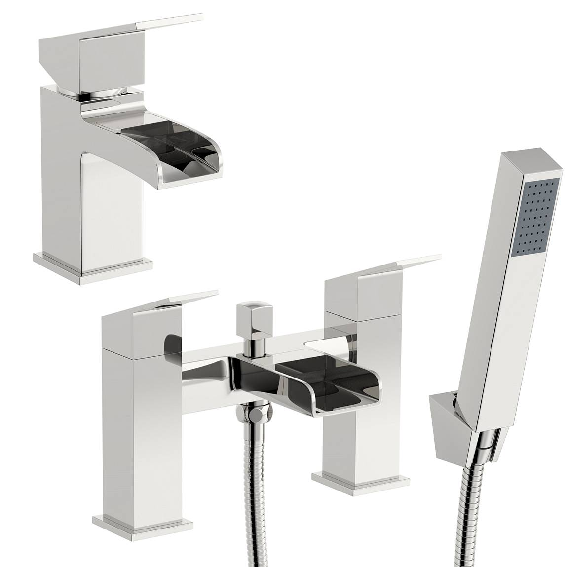 Image of Escala Basin and Bath Shower Mixer Pack