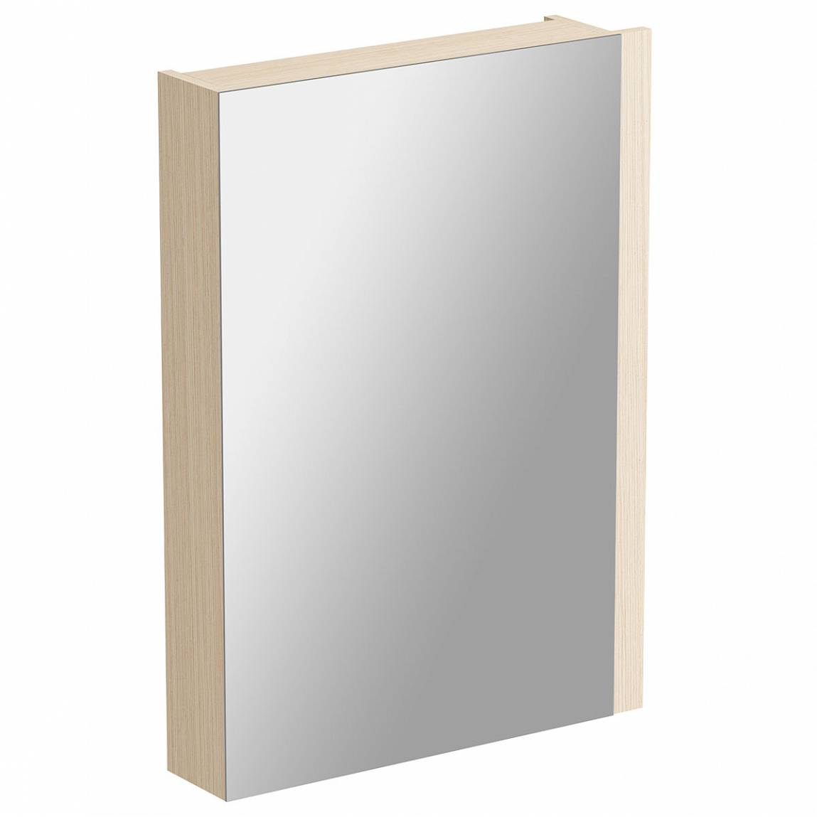 Image of Drift White & Oak Mirror Cabinet