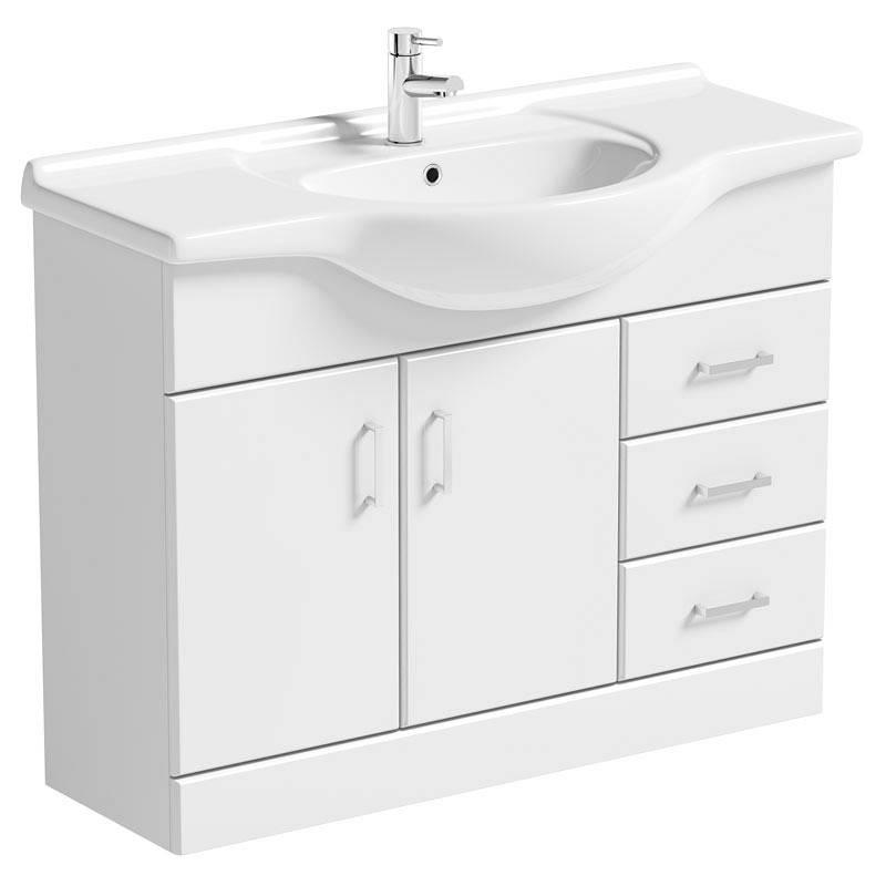 Image of Sienna White 105 Vanity Unit & Basin