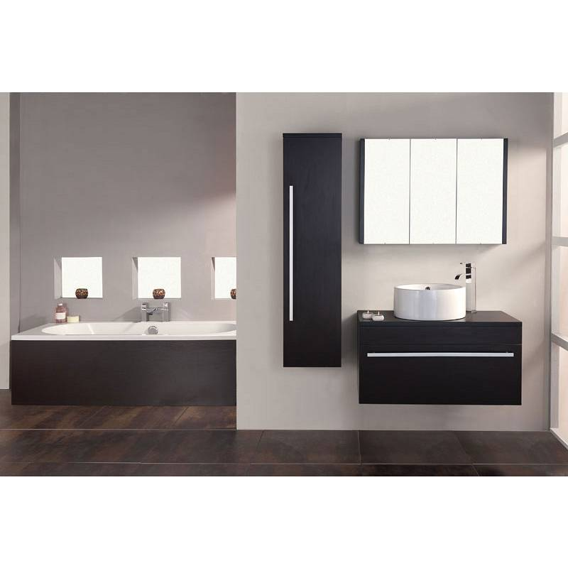 Odessa wenge 3 door mirror cabinet for Wenge bathroom mirror
