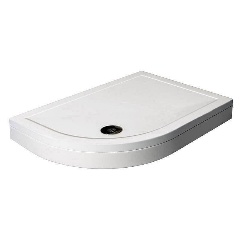 Image of Offset Quadrant Stone Shower Tray & Riser Kit 900 x 760 LH