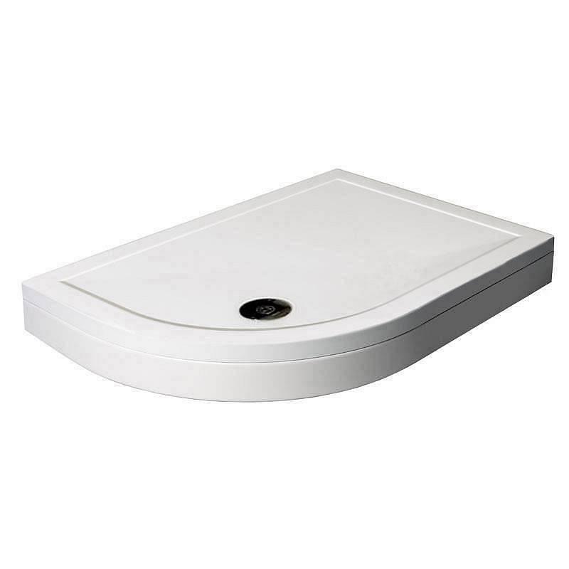 Image of Offset Quadrant Stone Shower Tray & Riser Kit 900 x 760 LH