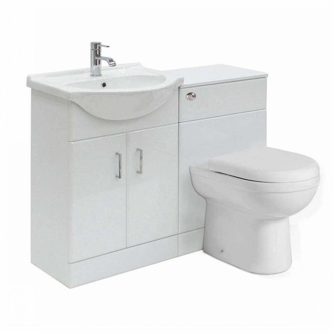 Image of Sienna Autograph White Gloss Combination Vanity Unit - Small