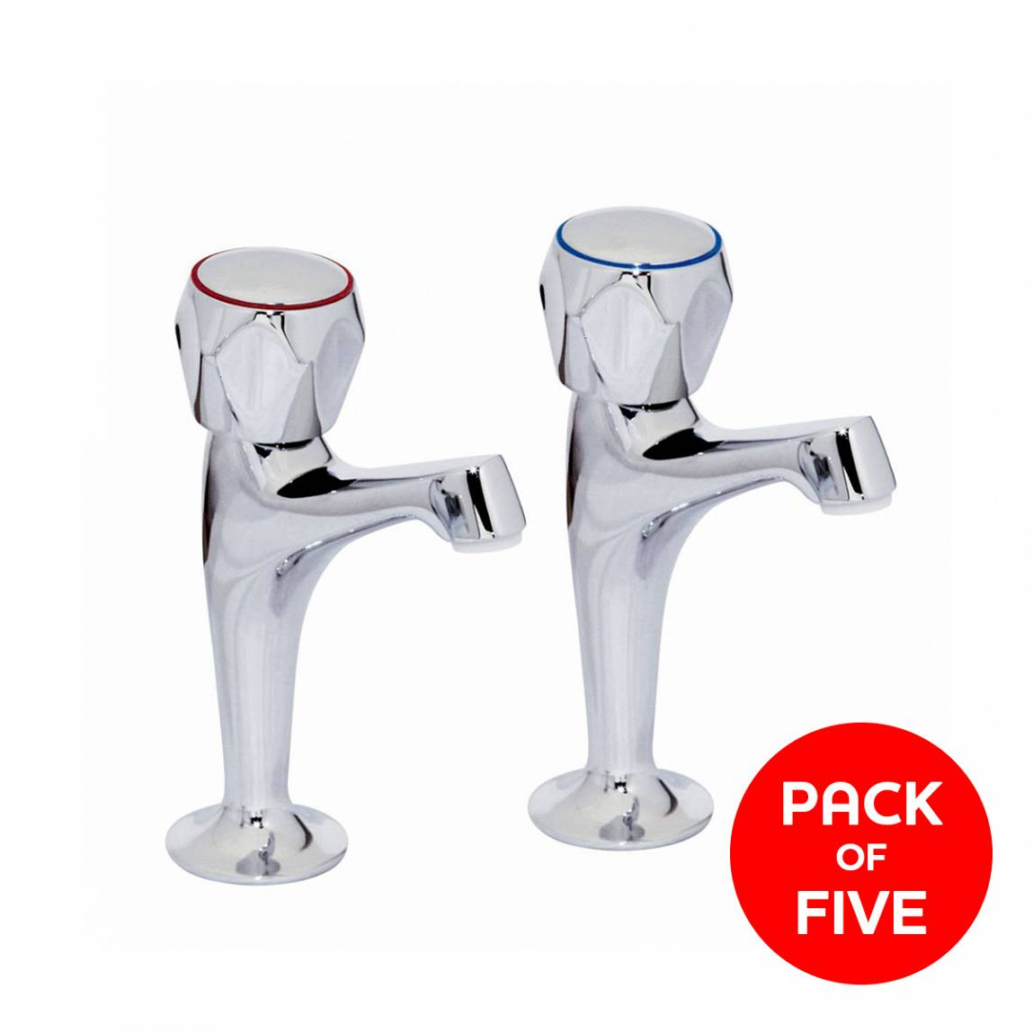 """Image of Rydal 1/2"""" Kitchen Taps with Hexagon Handle (Pack of Five)"""