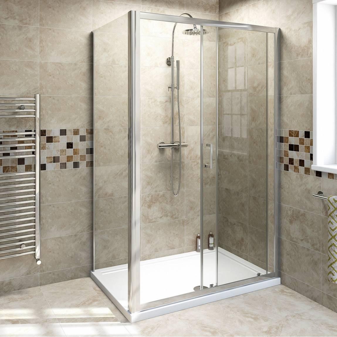 V6 Sliding Shower Enclosure 1100 X 800