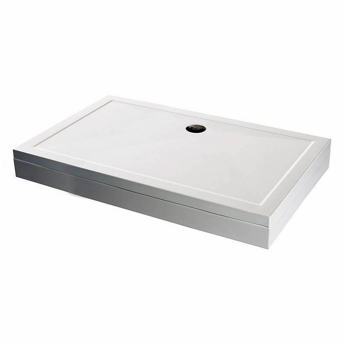 Image of Rectangular Stone Shower Tray & Riser Kit 900 x 800