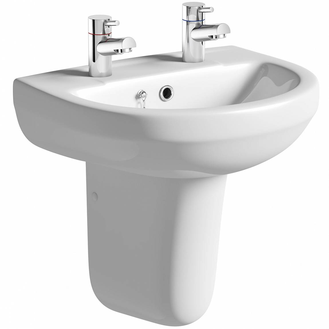 Image of Oakley 550 2TH Basin & Semi Pedestal