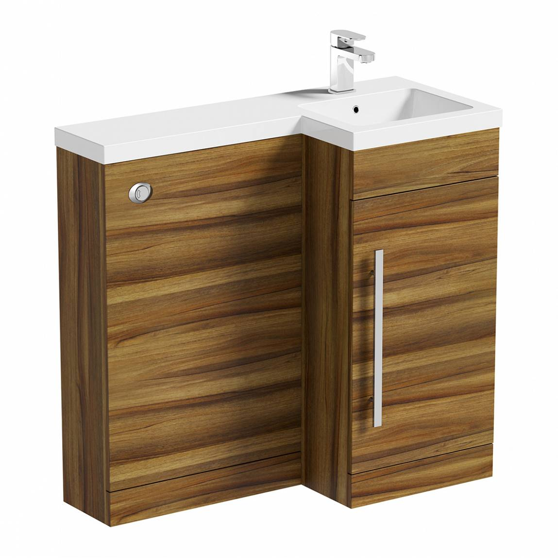 Image of MySpace Walnut Combination Unit RH including Concealed Cistern