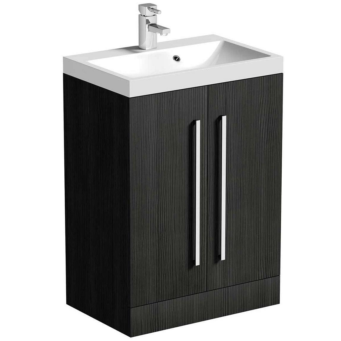 Drift essen vanity unit with basin 600mm for Bathroom cabinets victoria plumb