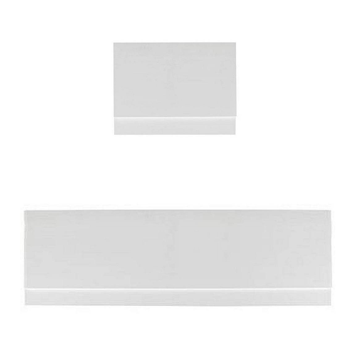 Image of Gloss White Straight Bath Panel Pack 1700 x 750