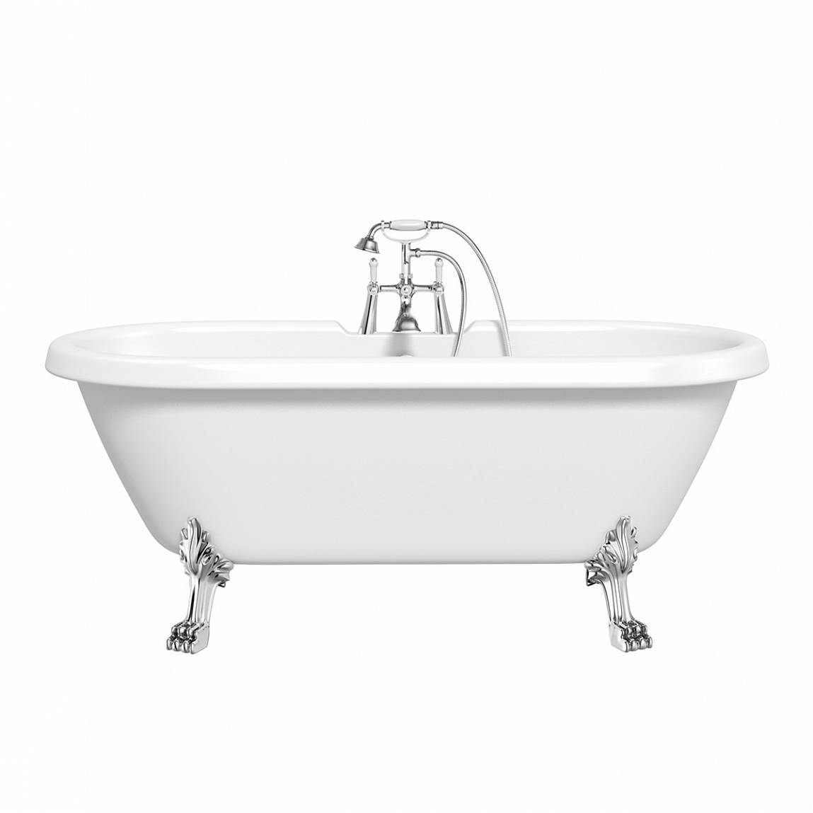 Image of Shakespeare Roll Top Bath Large with Dragon Feet