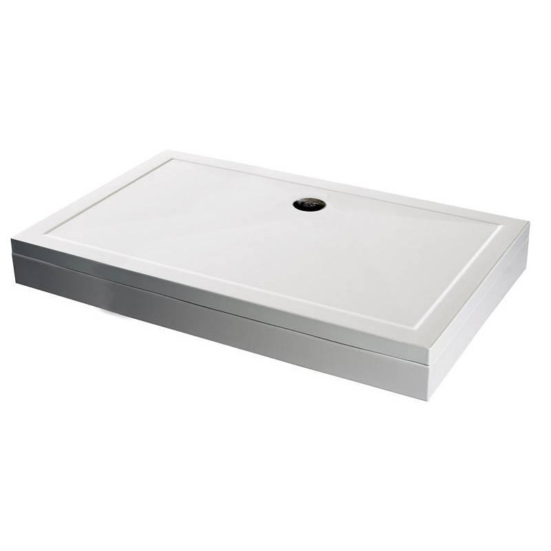 Image of Rectangular Stone Shower Tray & Riser Kit 1200 x 760