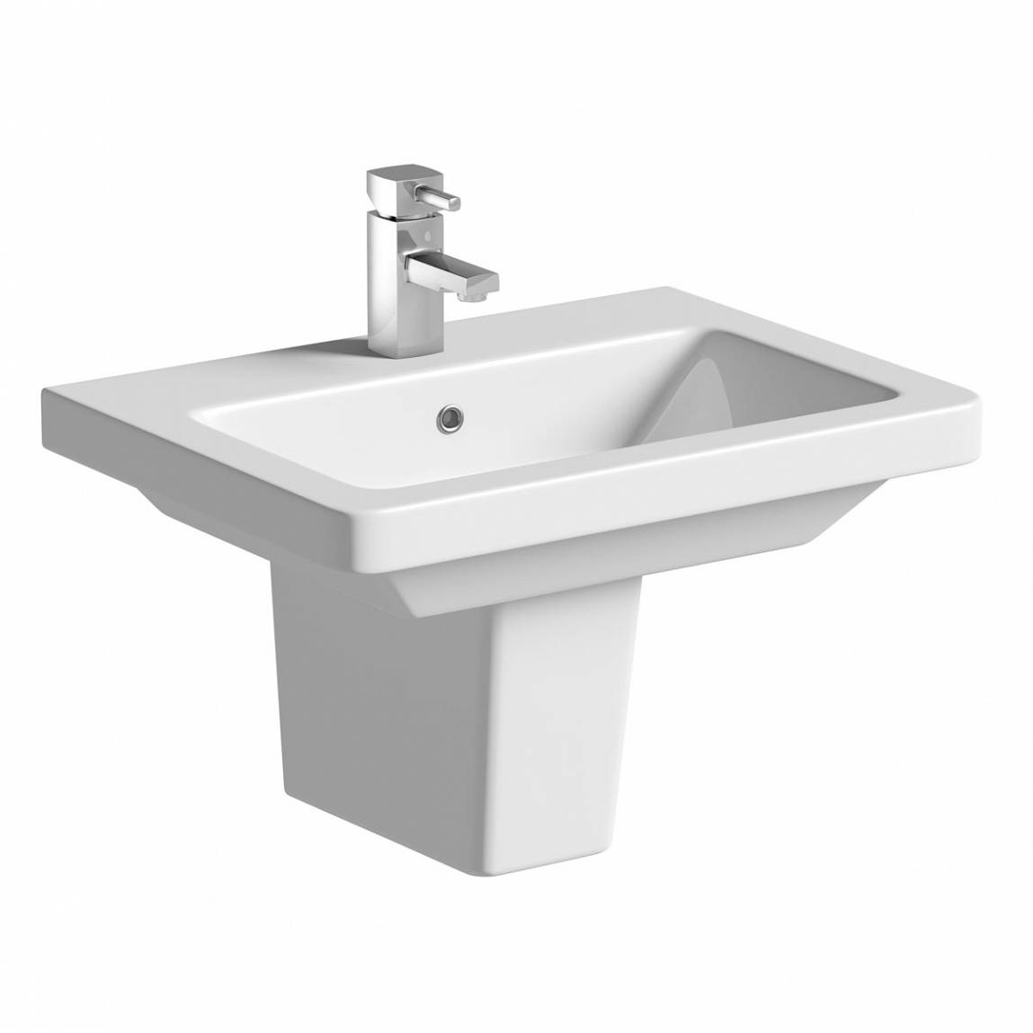Image of Verso 1TH 550mm Basin & Semi Pedestal