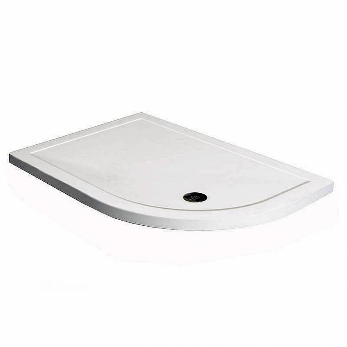 Image of Offset Quadrant Stone Shower Tray 1200 x 800 RH