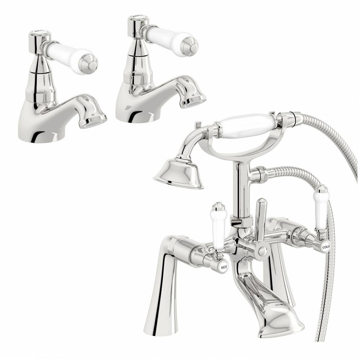 Image of Antonio Basin Tap and Bath Shower Mixer Pack