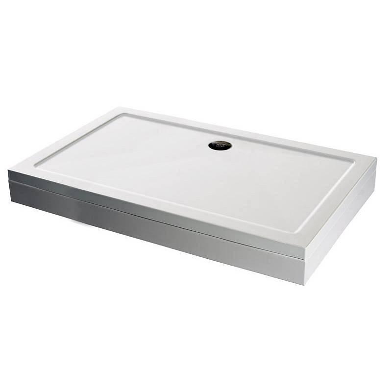 Image of Rectangular Stone Shower Tray & Riser Kit 1000 x 800
