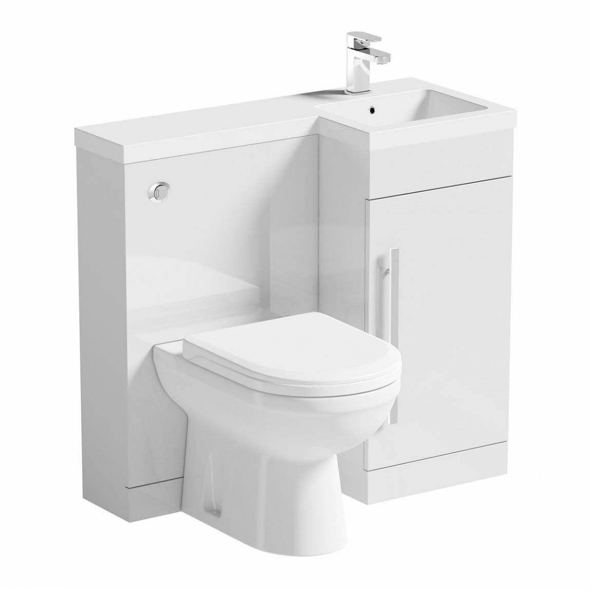 Image of MySpace White Combination Unit RH with Autograph BTW Toilet