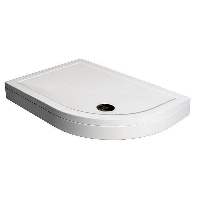 Image of Offset Quadrant Stone Shower Tray & Riser Kit 1200 x 800 RH
