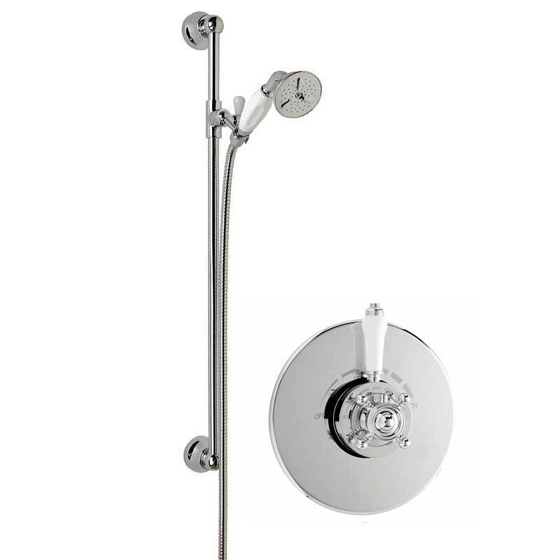 Image of Traditional Thermostatic Dual Valve and Riser Rail Set