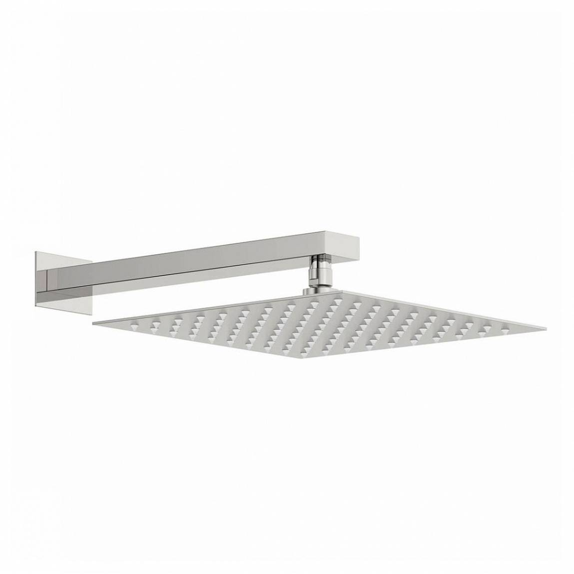 Image of Incus 300mm Shower Head & Rectangular Wall Arm