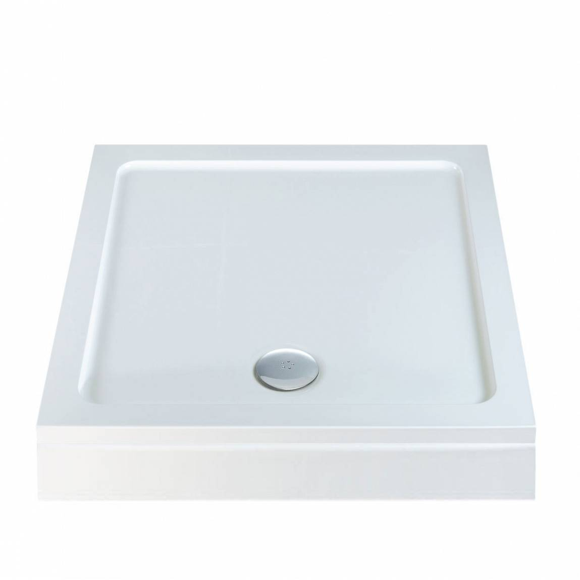 Image of Square Stone Shower Tray & Riser Kit 1000 x 1000