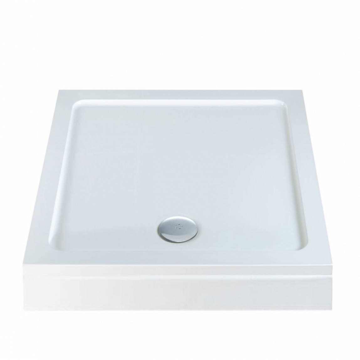 Image of Square Stone Shower Tray & Riser Kit 1000 x 1000
