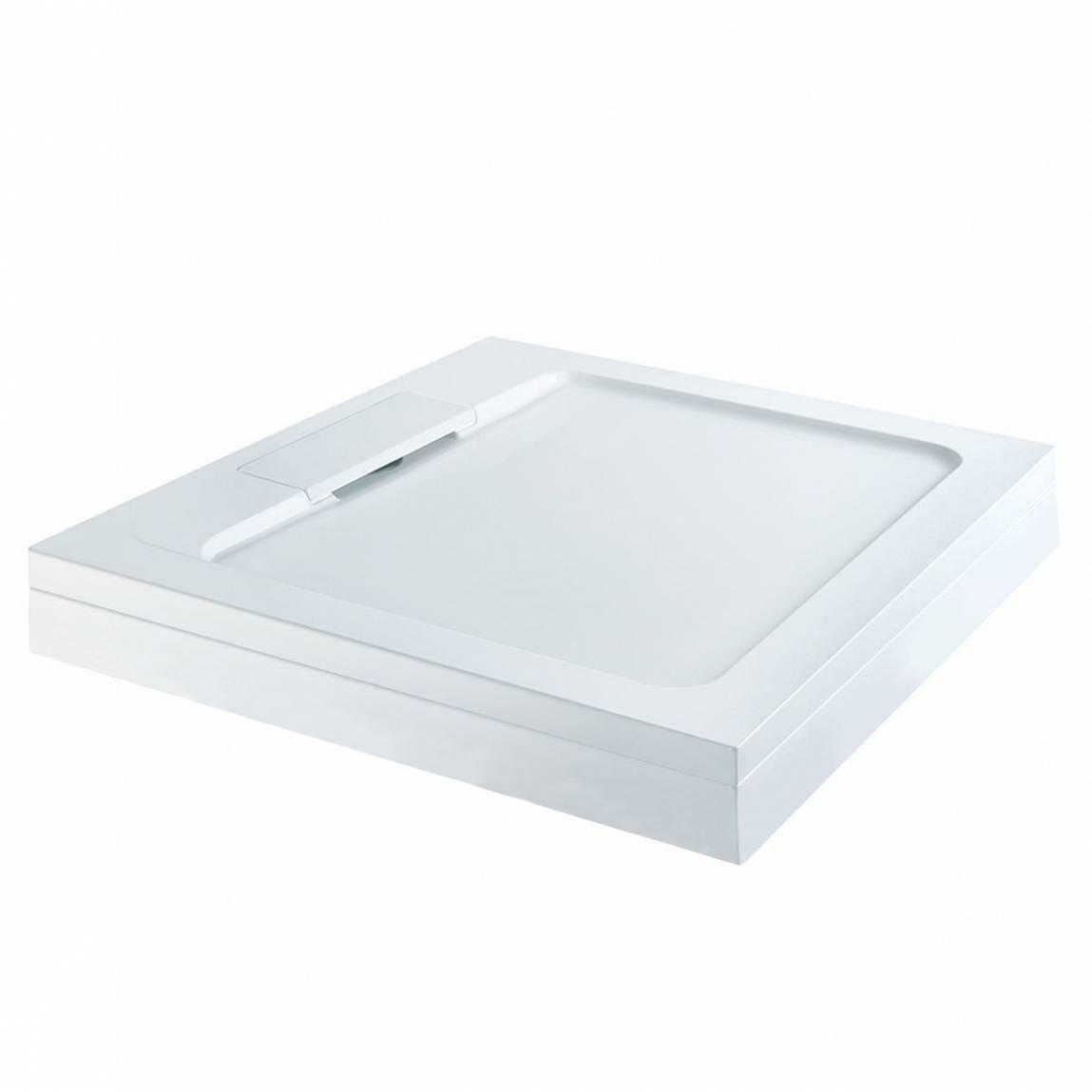 Image of Designer Square Stone Shower Tray & Riser Kit 800 x 800