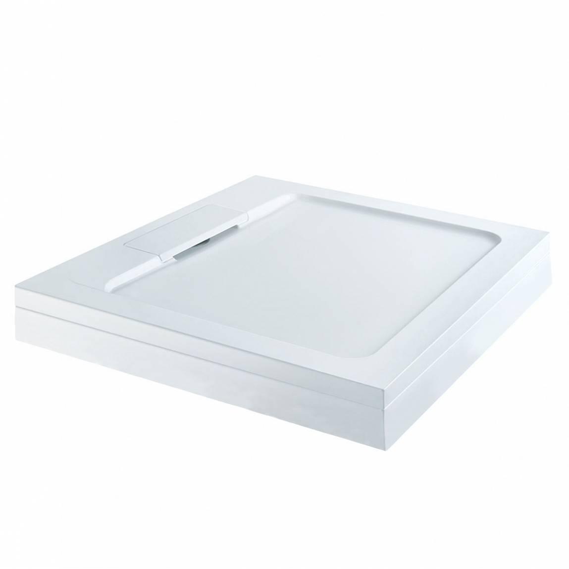Image of Designer Square Stone Shower Tray & Riser Kit 800 x 800