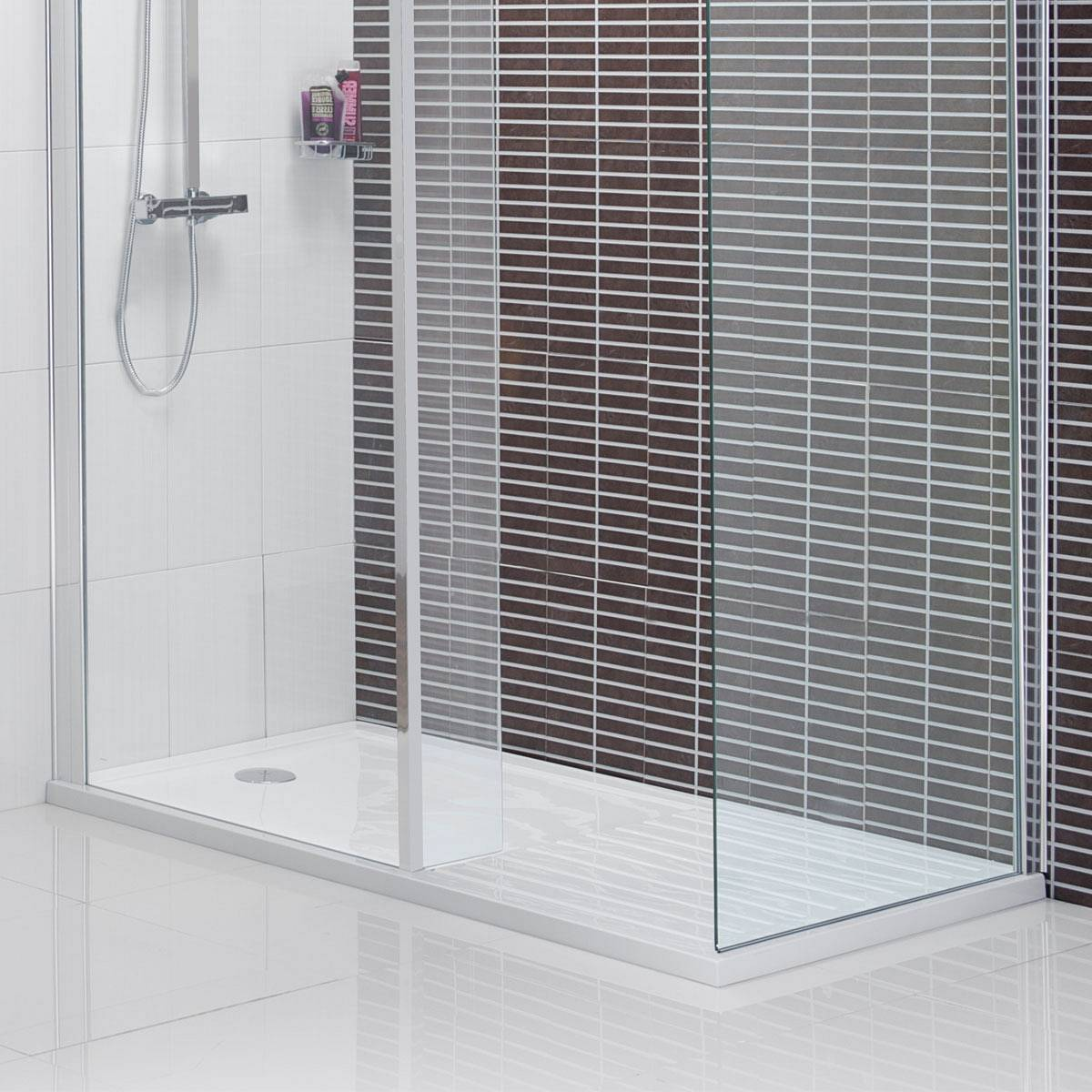 rectangular walk in shower tray 1600 x 800. Black Bedroom Furniture Sets. Home Design Ideas